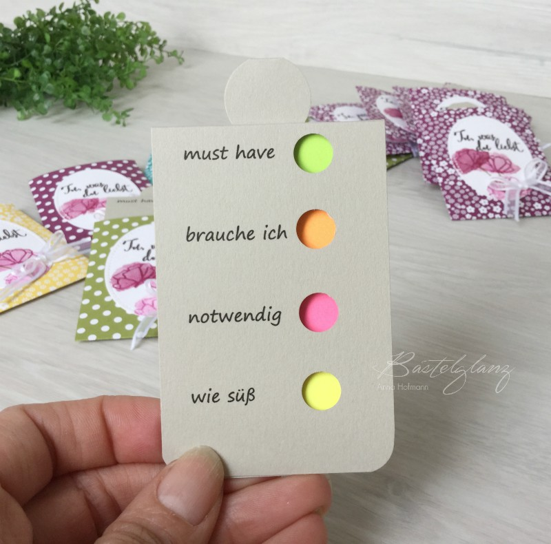 post it mit beschriftung stampin up