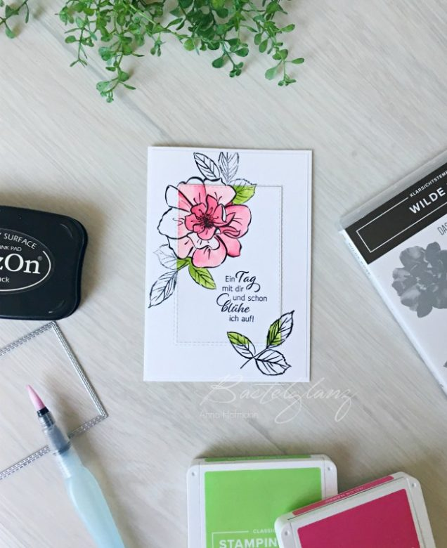 spotlight technik beim stampin up blog hop letsstamp