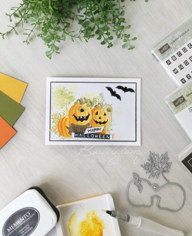 hallowennkarte mit stampinup produkten