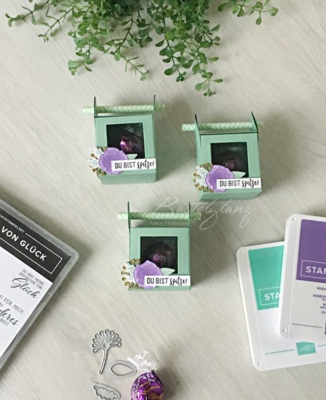 Stampin' Up! Strohhalmbox mit Fenster