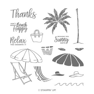 beach happy stampinup stempelset 148585